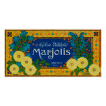 Marjolis Soap LabelParis, France Poster