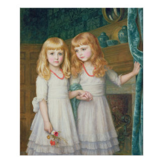 Marjorie and Lettice Wormald Poster