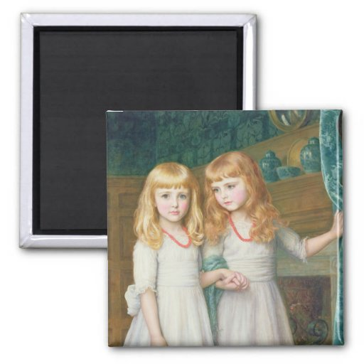 Marjorie and Lettice Wormald Refrigerator Magnet