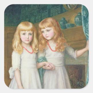 Marjorie and Lettice Wormald Square Sticker