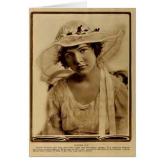 Marjorie Daw 1918 silent movie actress portrait Card