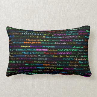 Marjorie Text Design I Lumbar Pillow
