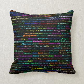 Marjorie Text Design I Throw Pillow