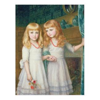 Marjorie y Lettice Wormald Tarjeta Postal