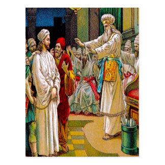 Mark14:53-65 Jesus Before the Chief Pries postcard