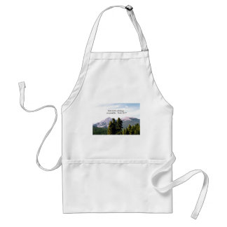 Mark 10:27 With God, all things are possible. Adult Apron