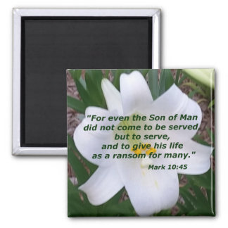 Mark 10:45 magnet