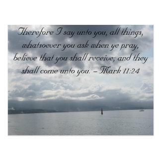 Mark 11:24 - Faith Postcard