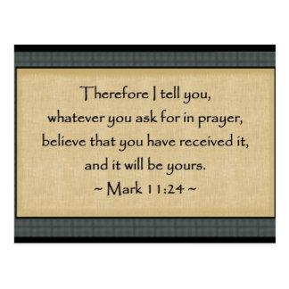 Mark 11:24: Postcard