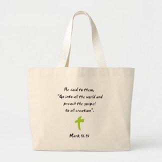 Mark 16.15 large tote bag