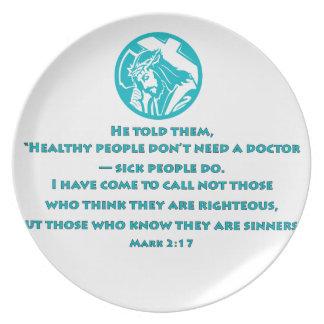 Mark 2:17 dinner plate