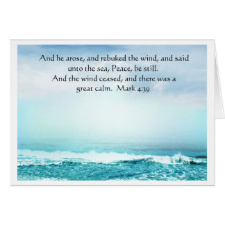 Mark 4:39  Jesus Calms the Storm Greeting  Card Card