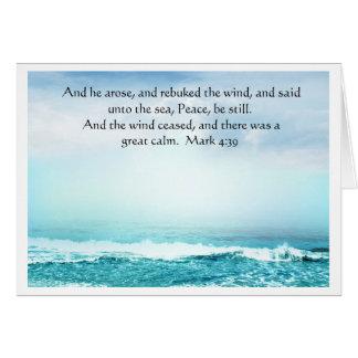 Mark 4:39  Jesus Calms the Storm Greeting  Card Card