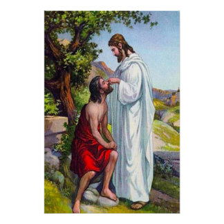 Mark 8:22-26 Jesus Heals a Blind Man Poster