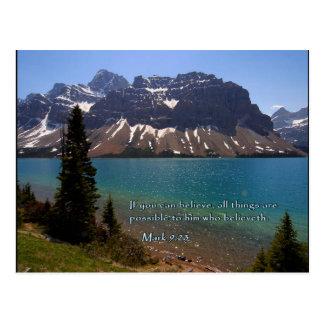 Mark 9:23 Mountain Lake Post Cards