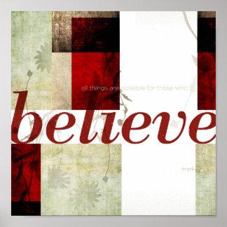 Mark 9:23 poster
