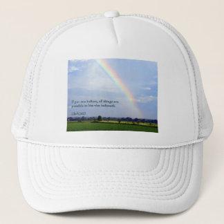Mark 9:23 Rainbow Trucker Hat