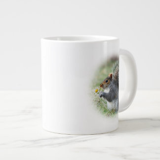 Mark 9:23Smiling Squirrel with Daisy Large Coffee Mug