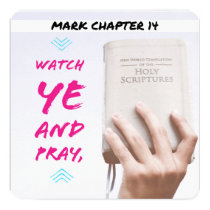 Mark chapter 14 and french card