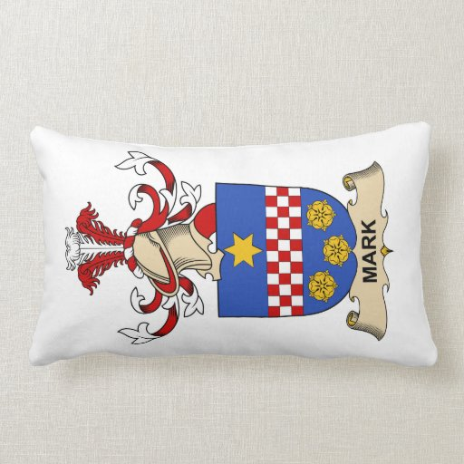 Mark Family Crest Throw Pillows