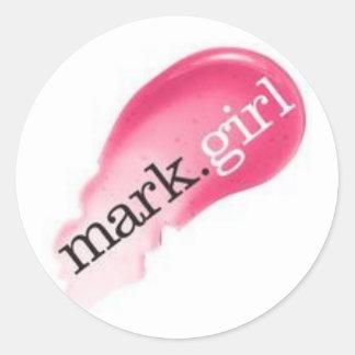mark.girl más enfermo pegatina redonda