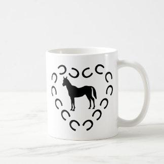 mark horse heart 4 classic white coffee mug