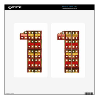 Mark Icon Symbol : NUMBERONE Number1 Decals For Kindle Fire