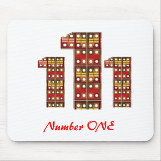 Mark Icon Symbol : NUMBERONE Number1 Mouse Pad