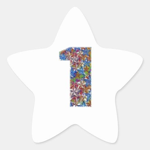 Mark Icon Symbol : NUMBERONE Number1 Star Sticker