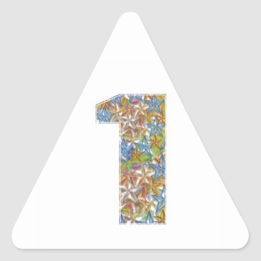 Mark Icon Symbol : NUMBERONE Number1 Triangle Sticker
