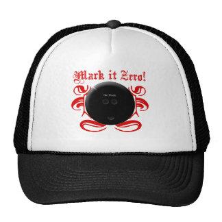 Mark it Zero! Funny Bowling Shirt Hats