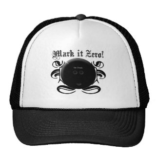 Mark it Zero! Funny Bowling Shirt Trucker Hats