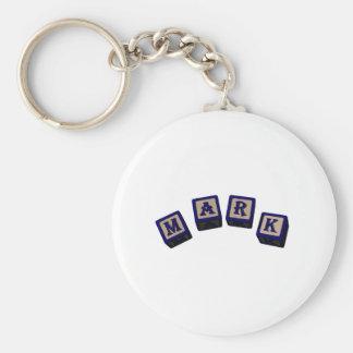 mark basic round button keychain
