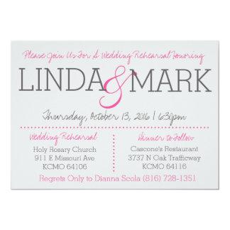 Mark & Linda Rehearsal Card