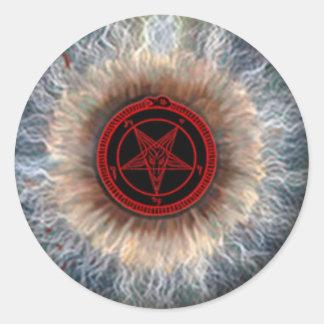 MARK of the DEVIL EYEBALL Classic Round Sticker