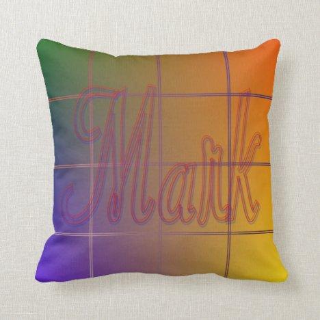 Mark Rainbow Grid Pillow