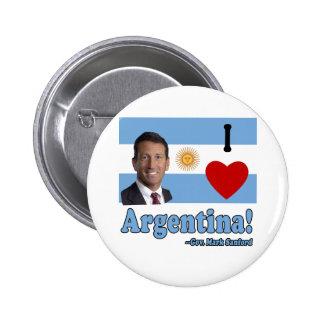Mark Sanford I Love Argentina 2 Inch Round Button