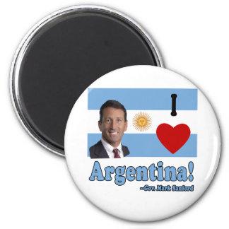 Mark Sanford I Love Argentina 2 Inch Round Magnet