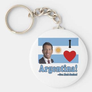 Mark Sanford I Love Argentina Basic Round Button Keychain