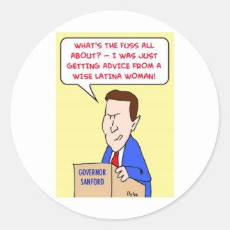 mark sanford wise latina woman stickers