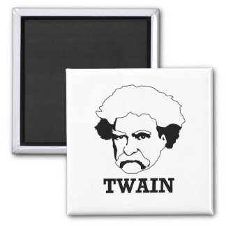 Mark Twain 2 Inch Square Magnet