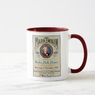 Mark Twain at Barber Hall Historic Homer NY Mug