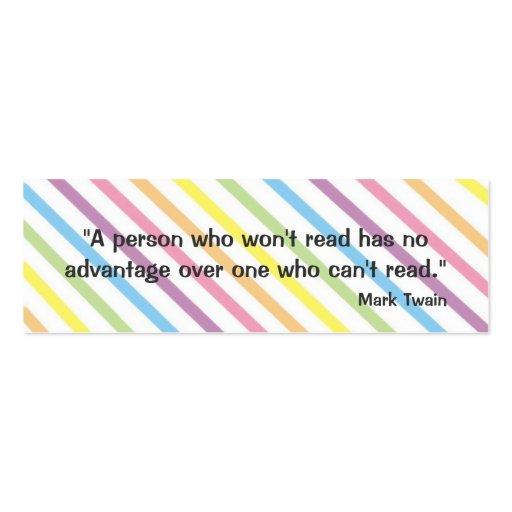 Mark Twain Bookmark Business Card