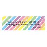 Mark Twain Bookmark Business Cards