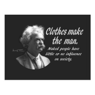 Mark Twain: Clothes Make the Man Post Cards