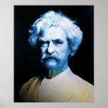 Mark Twain en azul Posters