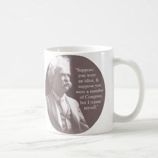 Mark Twain en congreso Tazas De Café