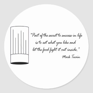 Mark Twain Food Quote Sticker