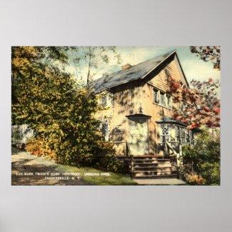 Mark Twain Home Onteora Pk NY Vintage 1942 print