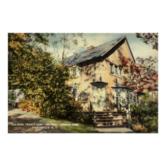 Mark Twain Home Onteora Pk NY Vintage 1942 Poster